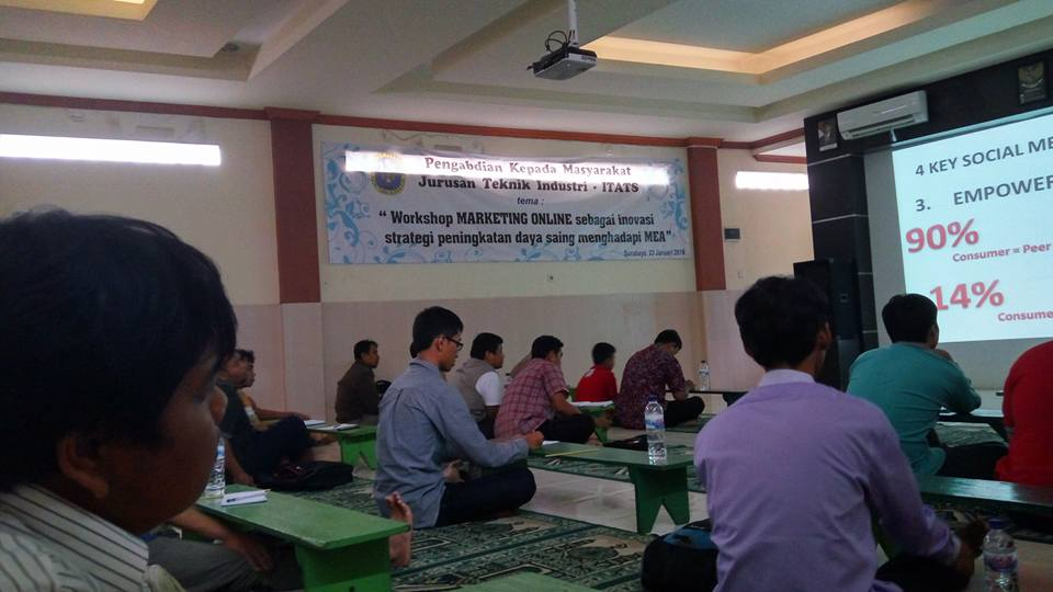 Narasumber Workshop Marketing Online dengan ITATS 23 Januari 2016