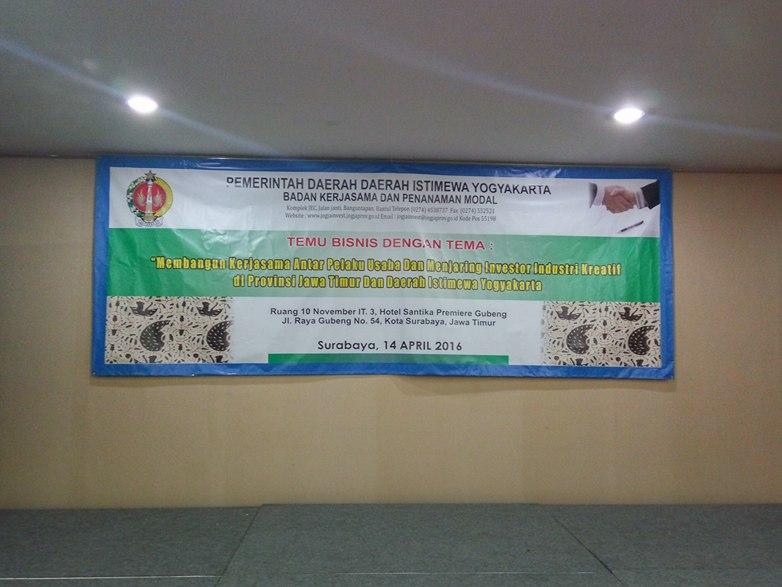 Temu Bisnis Pelaku Usaha Provinsi Jatim dan DI Yogyakarta