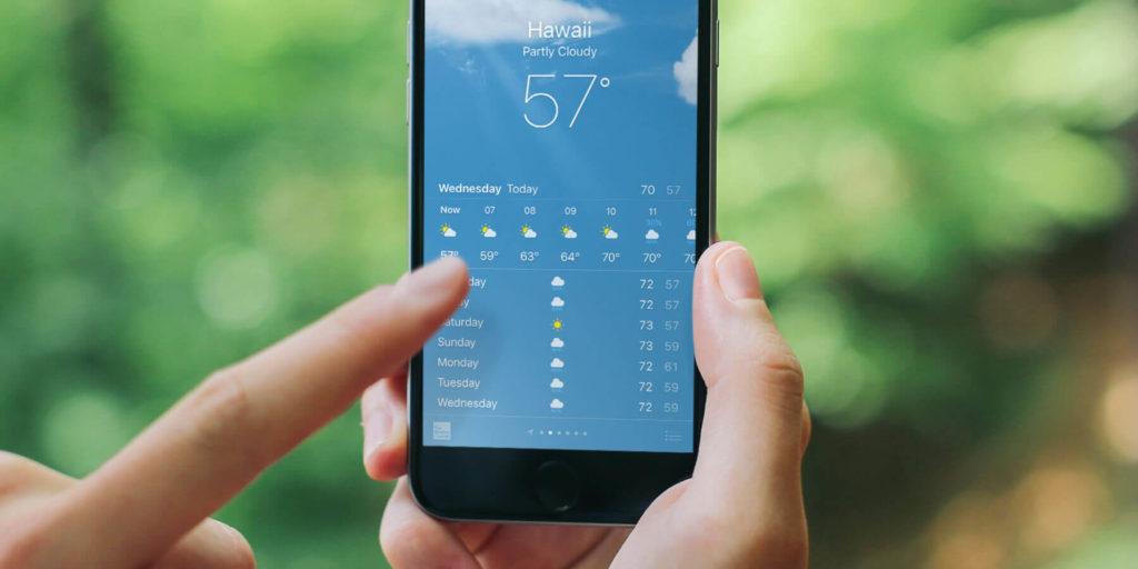 Cek prakiraan cuaca – sumber gambar : tapsmart.com