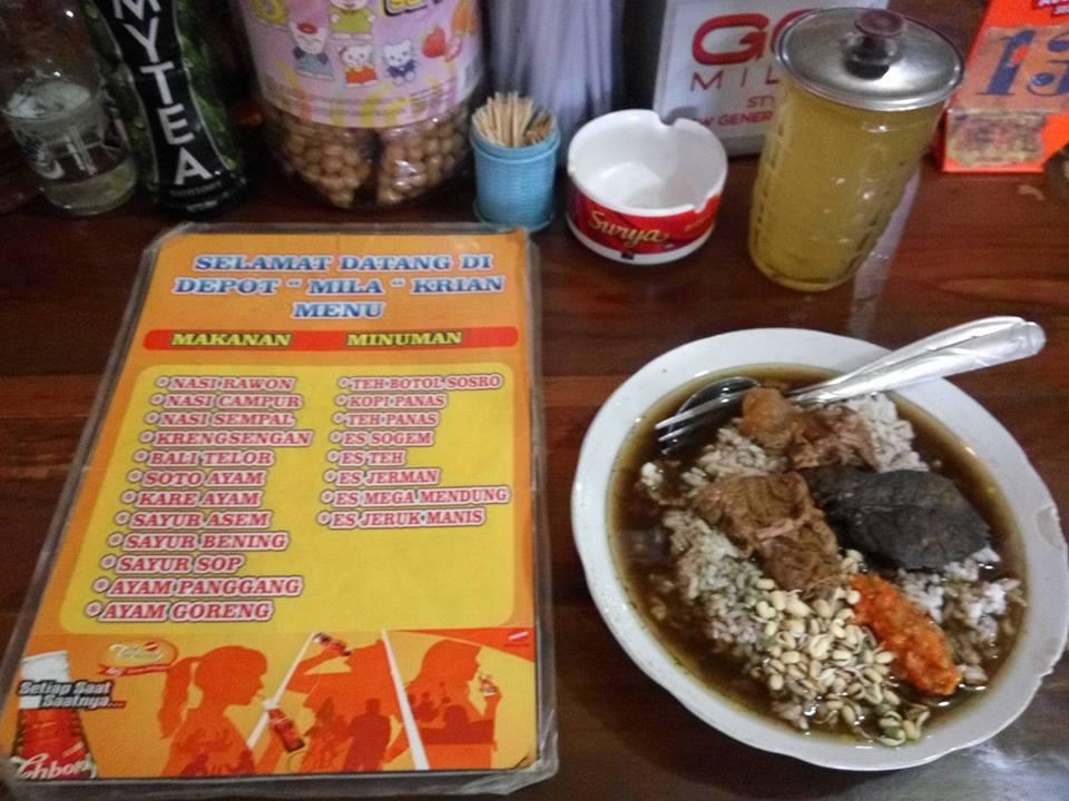 Rawon Daging di Depot Mila Krian Sidoarjo