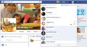 Pesan Masuk pada akun Facebook Personal