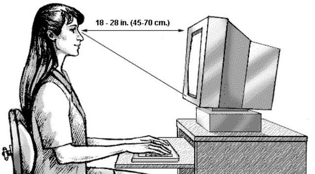 Perhatikan Jarak Mata dengan Layar Komputer