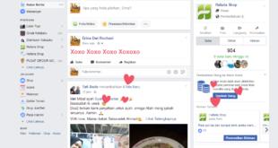 Update Status Xoxoxo di Facebook Berwarna Pink Akan Muncul Gambar Hati