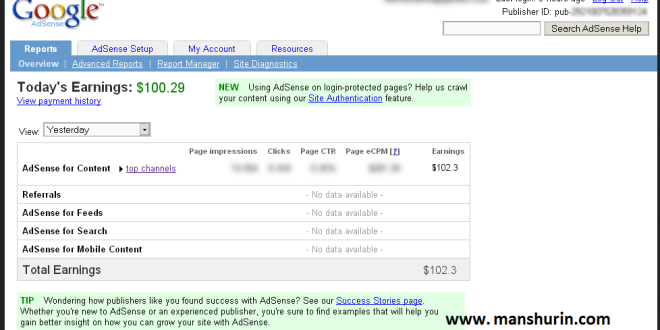 100 Dollar Perhari Dari Google Adsense