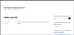 Tampilan Hasil Install WordPress